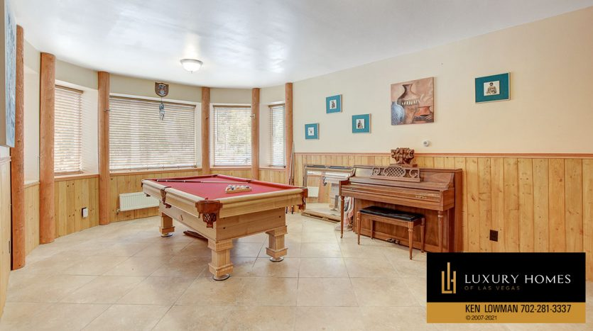 game room at Mt Charleston Home for Sale, 352 Echo Rd