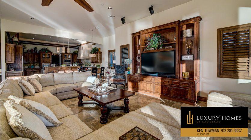 entertainment area at Seven Hills Home for Sale, 1610 Villa Rica
