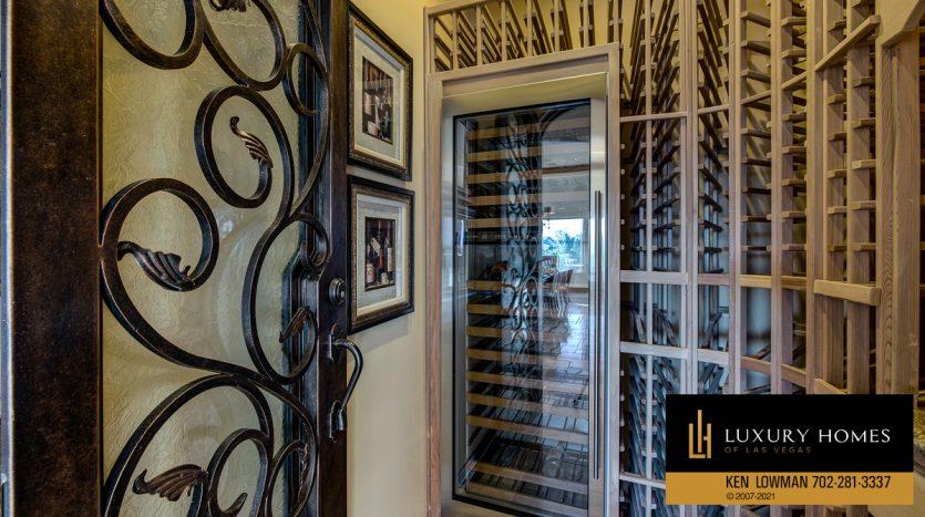 wine storage at Seven Hills Home for Sale, 1610 Villa Rica