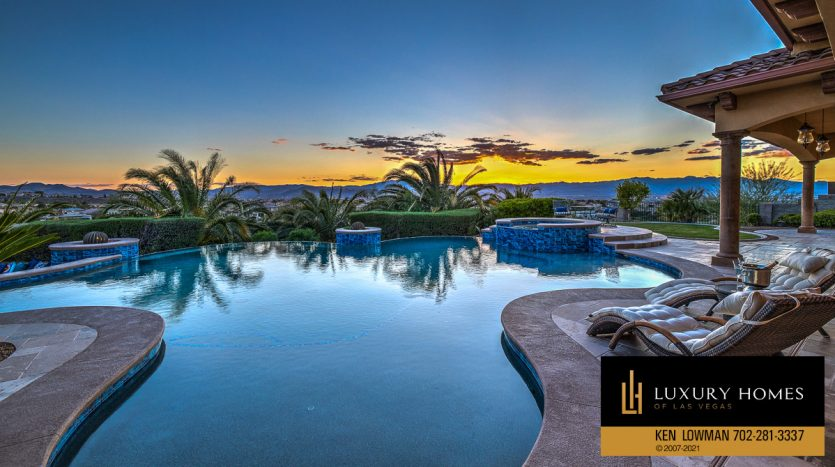outdoor pool view at Seven Hills Home for Sale, 1610 Villa Rica