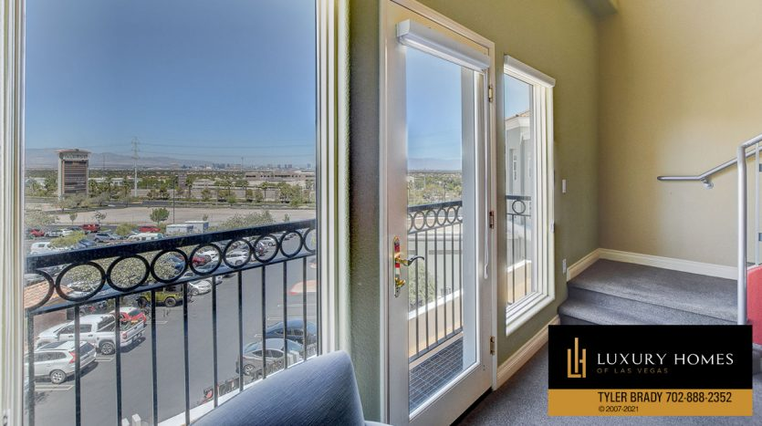 balcony at District at Green Valley Ranch Home for Sale, 2220 Village Walk Dr #3306