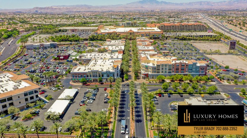 area drone view of District at Green Valley Ranch Home for Sale, 2220 Village Walk Dr #3306