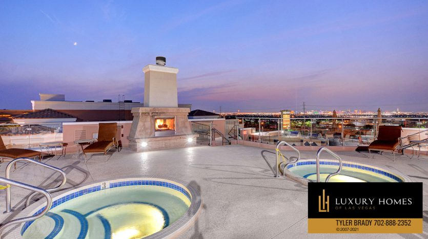 rooftop spa at District at Green Valley Ranch Home for Sale, 2220 Village Walk Dr #3306