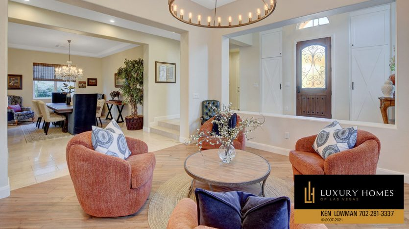 living room area at Red Rock Country Club Home for Sale, 11606 Morning Grove Dr