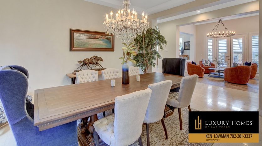 dining area at Red Rock Country Club Home for Sale, 11606 Morning Grove Dr