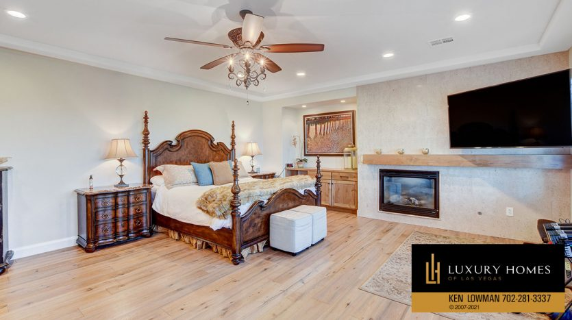 bedroom at Red Rock Country Club Home for Sale, 11606 Morning Grove Dr