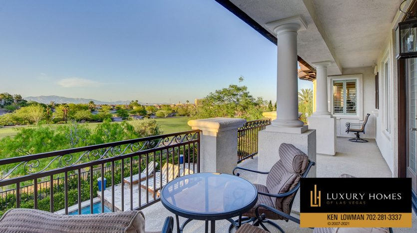 outdoor balcony at Red Rock Country Club Home for Sale, 11606 Morning Grove Dr