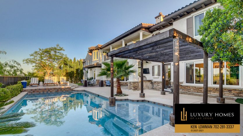 pool at Red Rock Country Club Home for Sale, 11606 Morning Grove Dr
