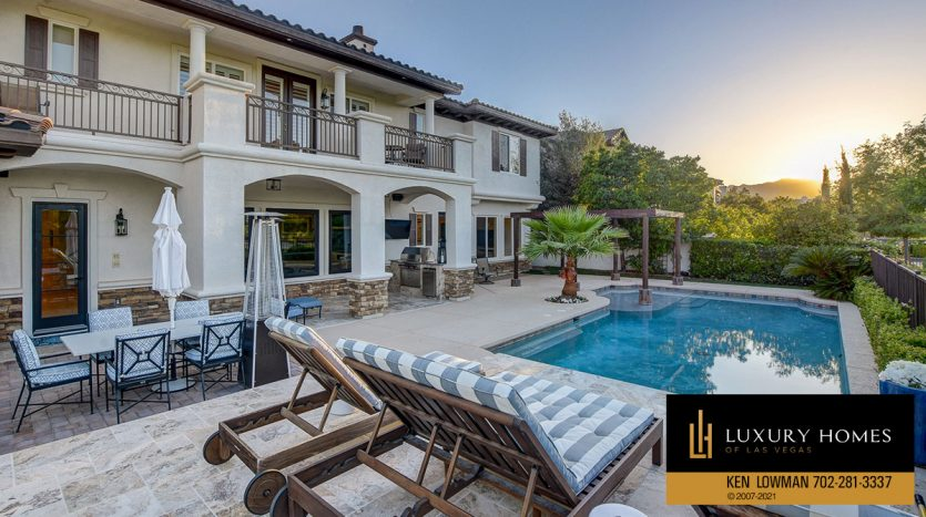 pool view at Red Rock Country Club Home for Sale, 11606 Morning Grove Dr