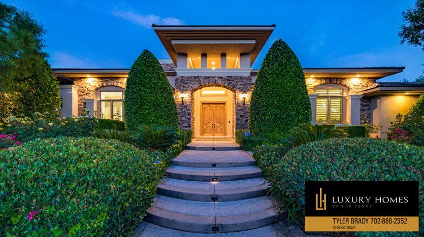 entrance at The Ridges Home for Sale, 25 Promontory Ridge Dr, Las Vegas, NV 89135