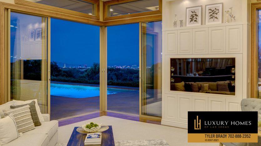 city view at The Ridges Home for Sale, 25 Promontory Ridge Dr, Las Vegas, NV 89135