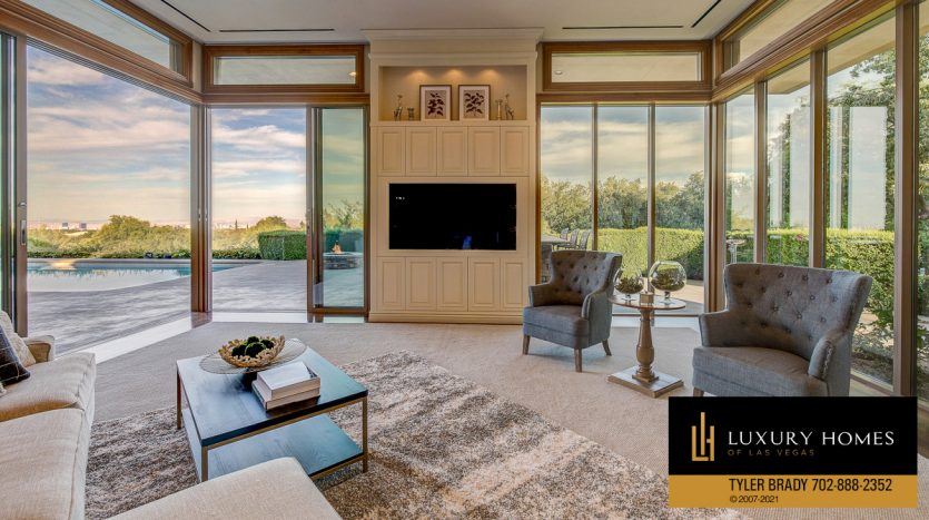 living room area at The Ridges Home for Sale, 25 Promontory Ridge Dr, Las Vegas, NV 89135