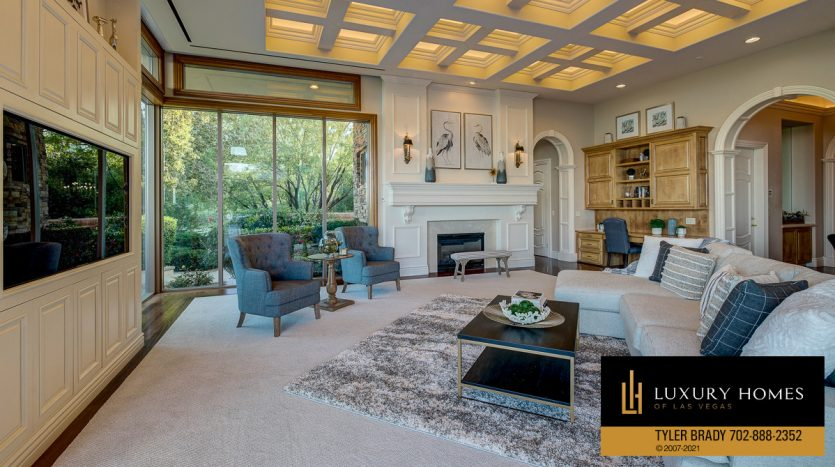 living room at The Ridges Home for Sale, 25 Promontory Ridge Dr, Las Vegas, NV 89135