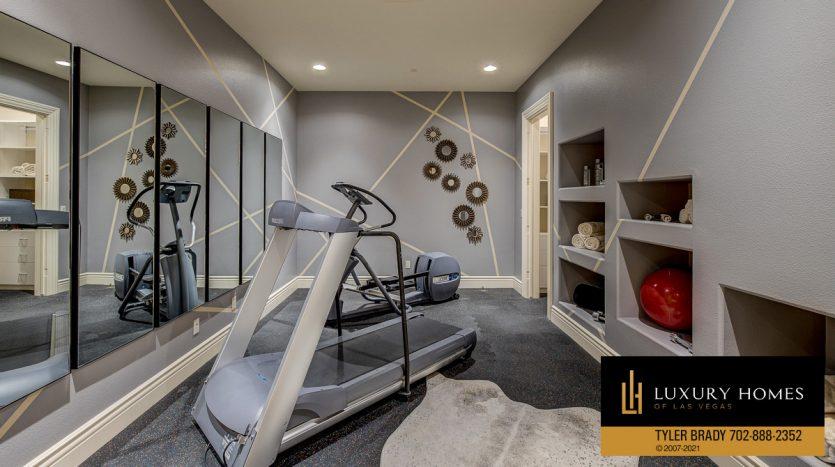 home gym at The Ridges Home for Sale, 25 Promontory Ridge Dr, Las Vegas, NV 89135