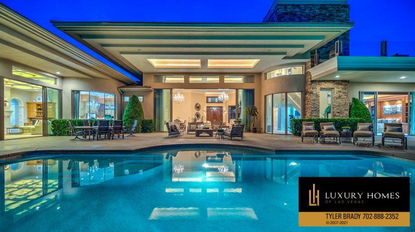 pool view at The Ridges Home for Sale, 25 Promontory Ridge Dr, Las Vegas, NV 89135