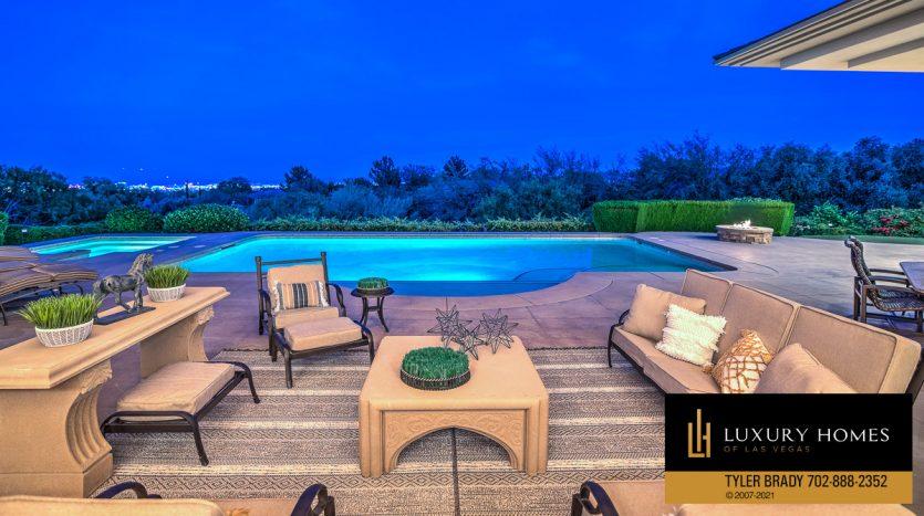 poolside at The Ridges Home for Sale, 25 Promontory Ridge Dr, Las Vegas, NV 89135