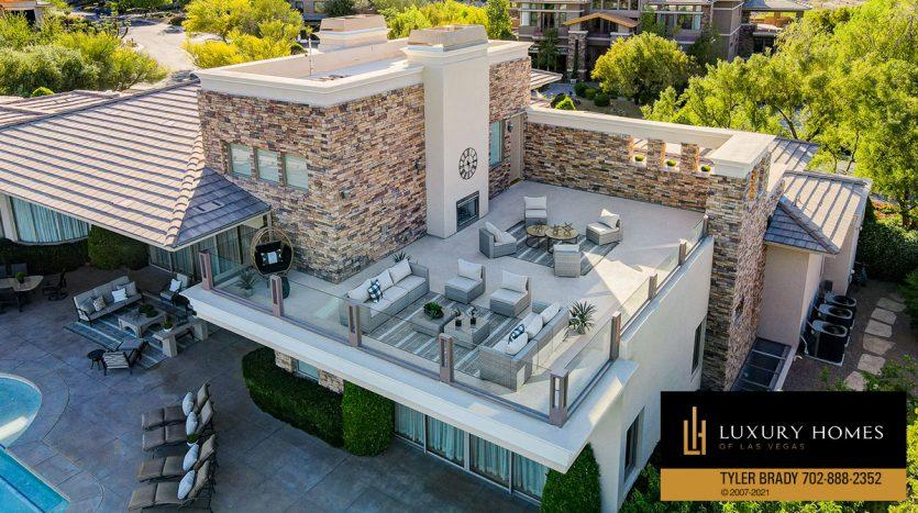 rooftop sitout at The Ridges Home for Sale, 25 Promontory Ridge Dr, Las Vegas, NV 89135