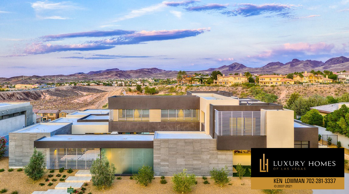 panoramic view of Seven Hills Home for Sale, 2787 La Bella Ct, Henderson, NV 89052