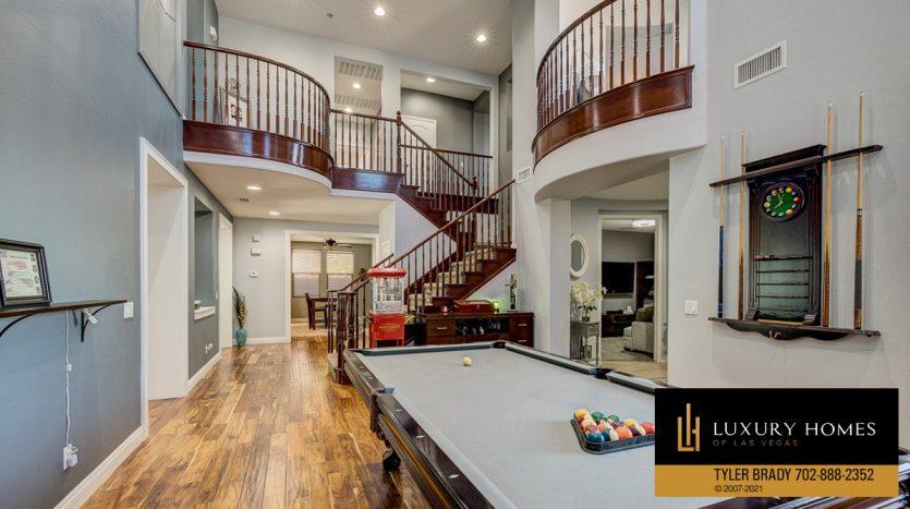 games room at Centennial Hills Home for Sale, 6883 Desert Island St, Las Vegas