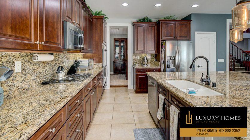 kitchen counter tops at Centennial Hills Home for Sale, 6883 Desert Island St, Las Vegas