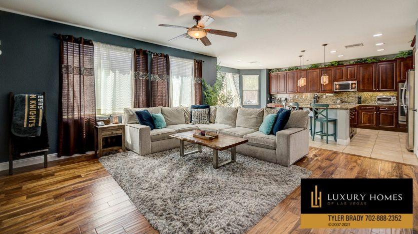 living room area at Centennial Hills Home for Sale, 6883 Desert Island St, Las Vegas