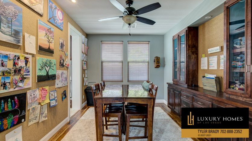 dining area at Centennial Hills Home for Sale, 6883 Desert Island St, Las Vegas