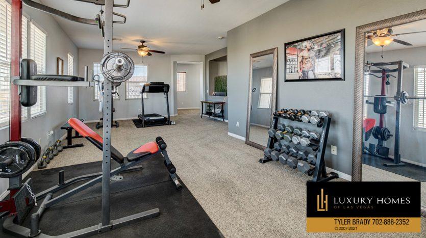 home gym at Centennial Hills Home for Sale, 6883 Desert Island St, Las Vegas