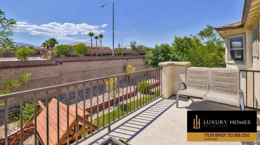 outdoor balcony at Centennial Hills Home for Sale, 6883 Desert Island St, Las Vegas