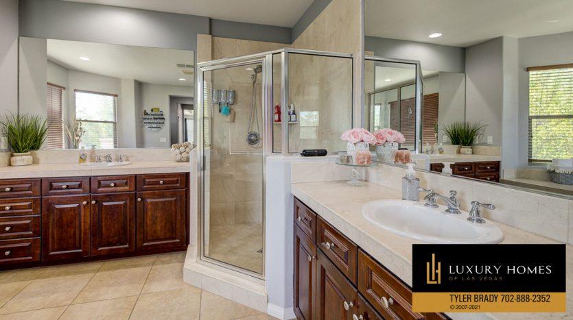 shower console at Centennial Hills Home for Sale, 6883 Desert Island St, Las Vegas