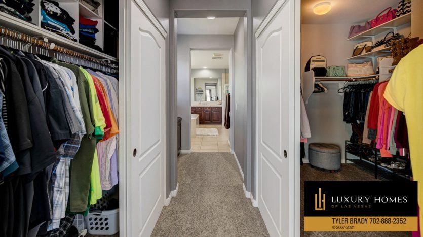 changing closet at Centennial Hills Home for Sale, 6883 Desert Island St, Las Vegas