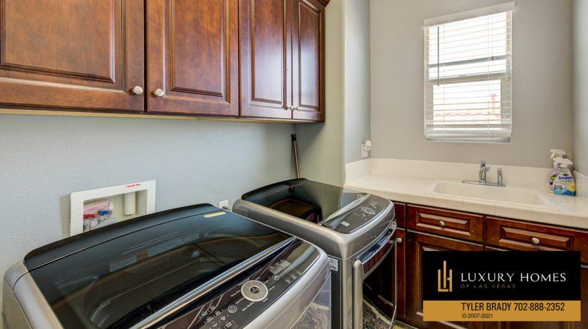 laundry area at Centennial Hills Home for Sale, 6883 Desert Island St, Las Vegas