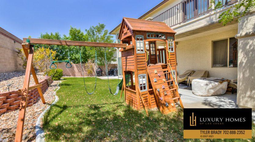 play yard at Centennial Hills Home for Sale, 6883 Desert Island St, Las Vegas