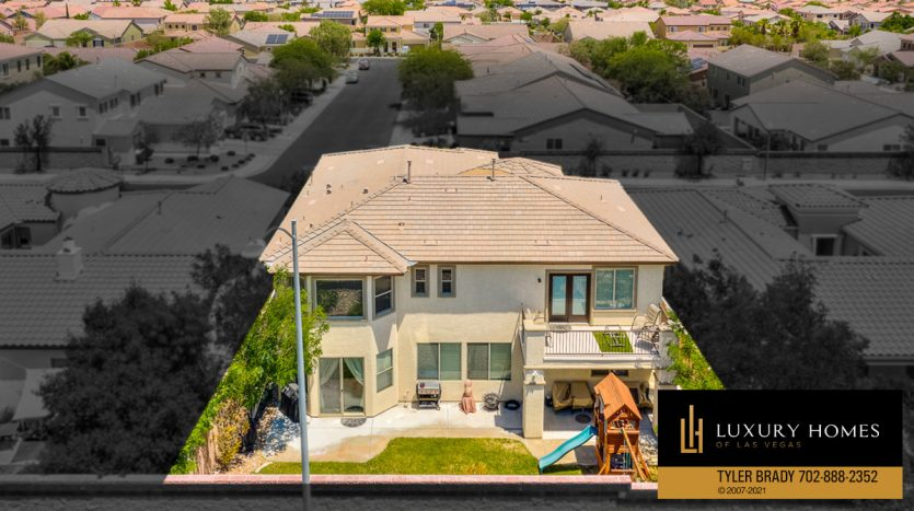 drone view of Centennial Hills Home for Sale, 6883 Desert Island St, Las Vegas
