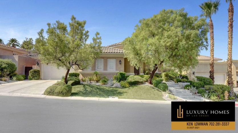 entrance to Red Rock Country Club Home for Sale, 11580 Evergreen Creek Ln, Las Vegas