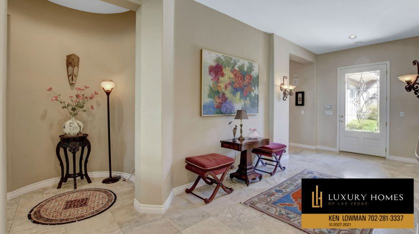 living room area at Red Rock Country Club Home for Sale, 11580 Evergreen Creek Ln, Las Vegas