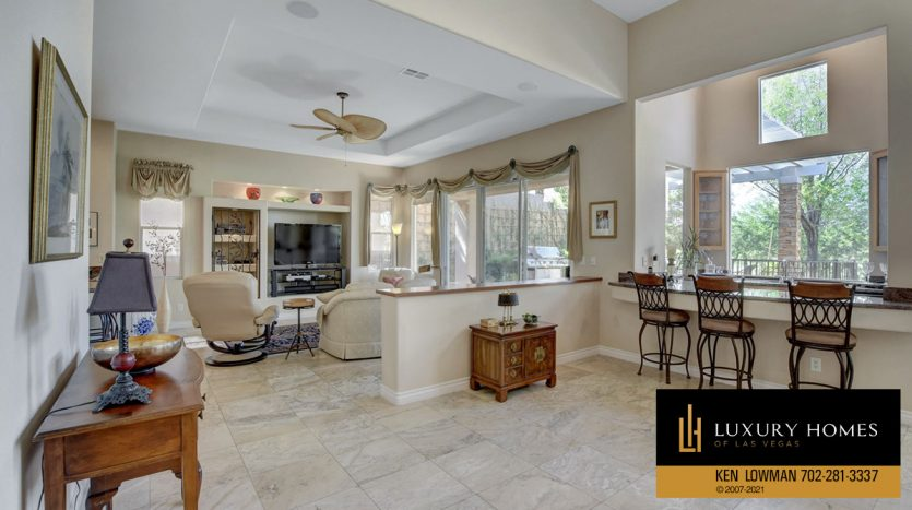 breakfast table at Red Rock Country Club Home for Sale, 11580 Evergreen Creek Ln, Las Vegas