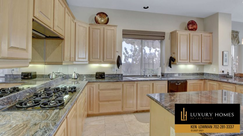 kitchen area at Red Rock Country Club Home for Sale, 11580 Evergreen Creek Ln, Las Vegas