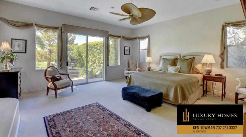bedroom at Red Rock Country Club Home for Sale, 11580 Evergreen Creek Ln, Las Vegas