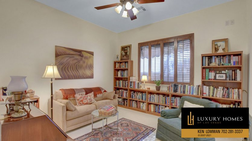 study room at Red Rock Country Club Home for Sale, 11580 Evergreen Creek Ln, Las Vegas
