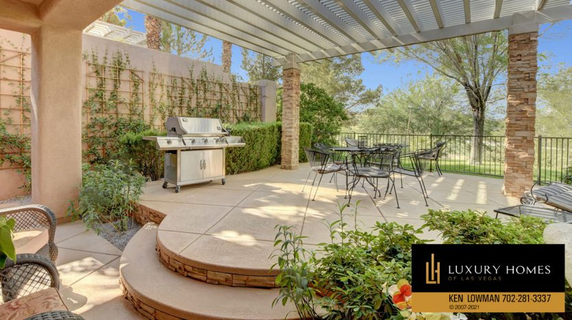 BBQ area at Red Rock Country Club Home for Sale, 11580 Evergreen Creek Ln, Las Vegas