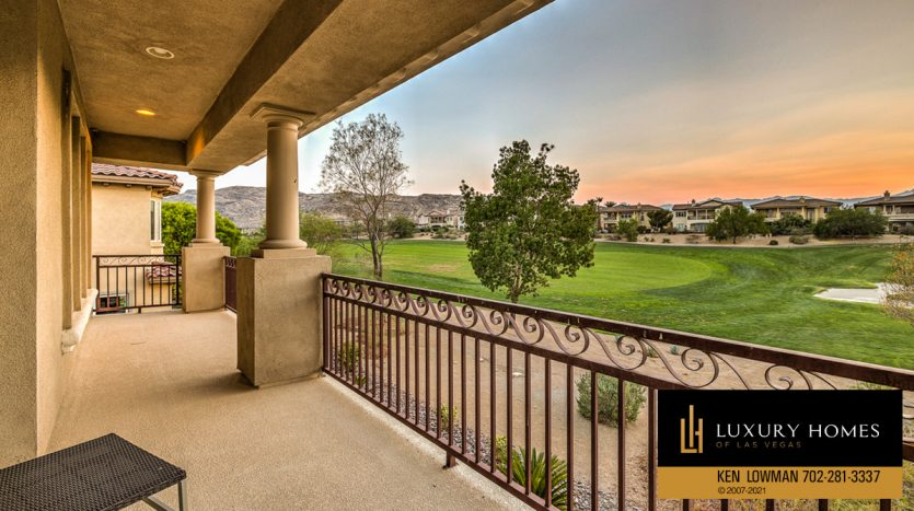 outdoor balcony view at Red Rock Country Club luxury home, 1955 Orchard Mist St