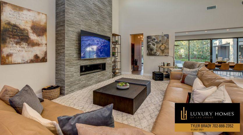 living room at The Ridges Home for Sale, 4165 Bronze Ridge St, Las Vegas