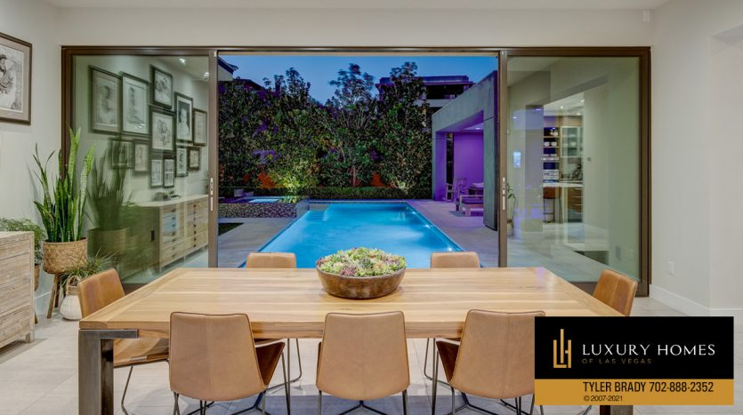 dining room at The Ridges Home for Sale, 4165 Bronze Ridge St, Las Vegas