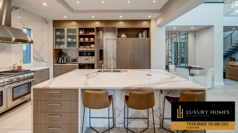 kitchen area at The Ridges Home for Sale, 4165 Bronze Ridge St, Las Vegas