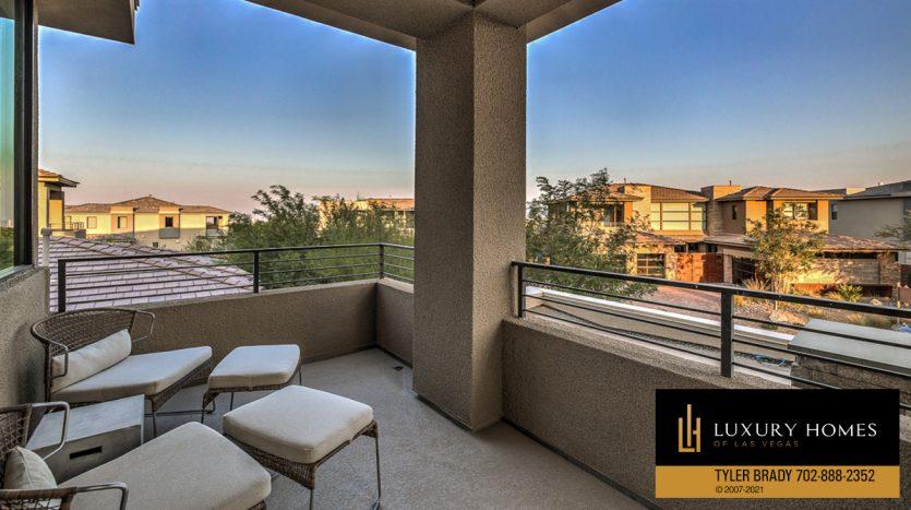 outdoor balcony view at The Ridges Home for Sale, 4165 Bronze Ridge St, Las Vegas
