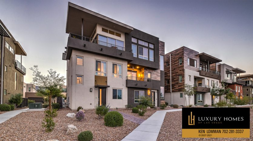 front view of Trilogy at Summerlin Luxury Home, 4300 Veraz St