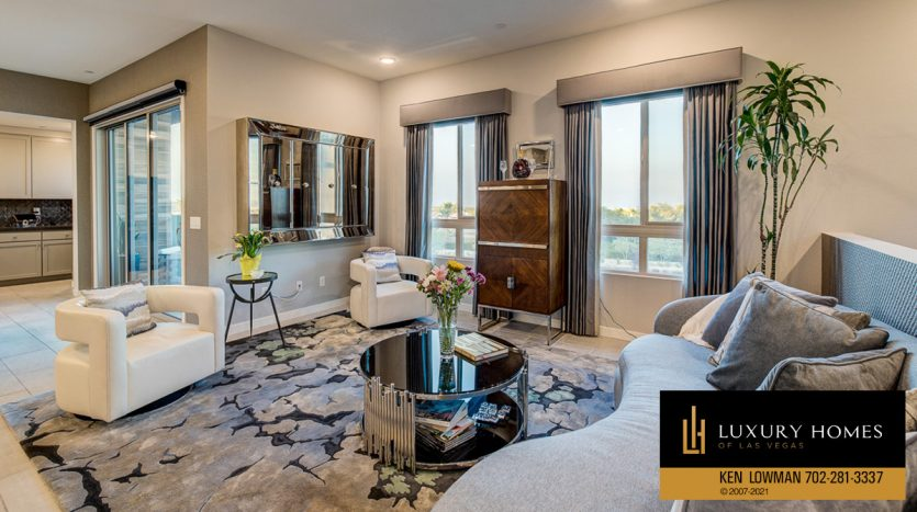 living room at Trilogy at Summerlin Luxury Home, 4300 Veraz St
