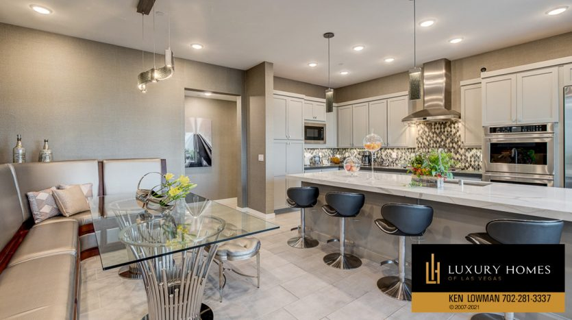 breakfast table at Trilogy at Summerlin Luxury Home, 4300 Veraz St