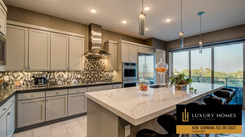 kitchen counter top at Trilogy at Summerlin Luxury Home, 4300 Veraz St