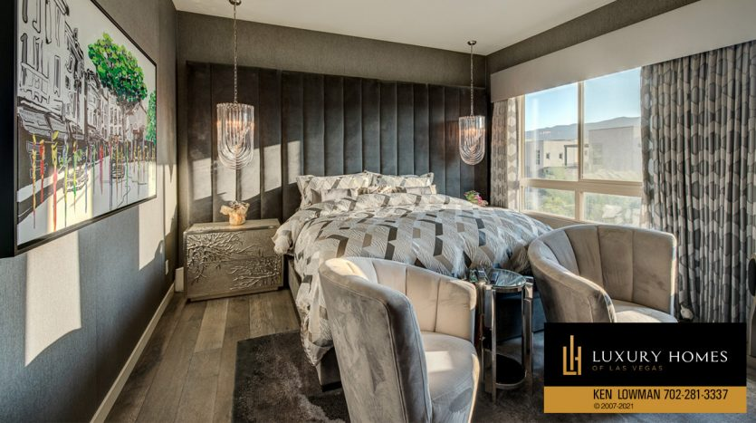 bedroom at Trilogy at Summerlin Luxury Home, 4300 Veraz St